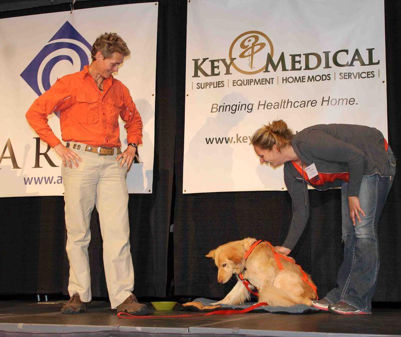 Chris Heeter and dog w