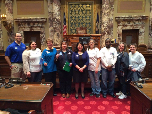 Advocates meet with Sen. Susan Kent during Day at the Capitol 2015